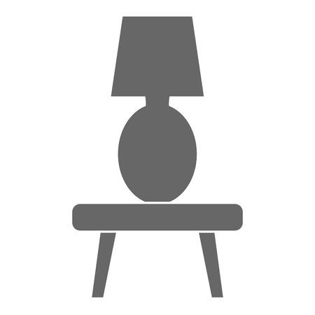 lâmpada de quarto em design de ilustração vetorial tabela