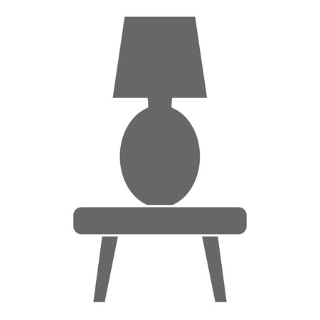 bedroom lamp in table vector illustration design