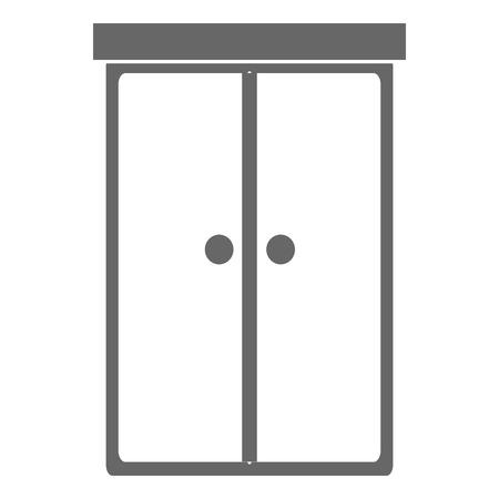 Kast slaapkamer geïsoleerd pictogram vector illustratie ontwerp Stockfoto - 91451600