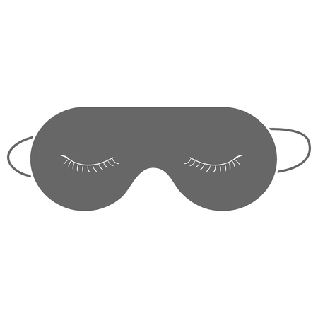 Icona isolata maschera di sonno. Archivio Fotografico - 91443660