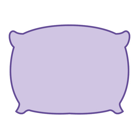 pillow bed isolated icon vector illustration design