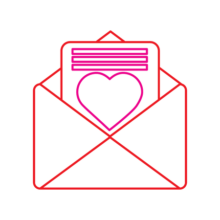 Valentines day letter with heart. Illustration