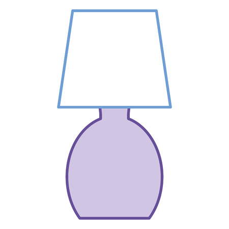 Bedroom lamp isolated icon illustration design. Illustration