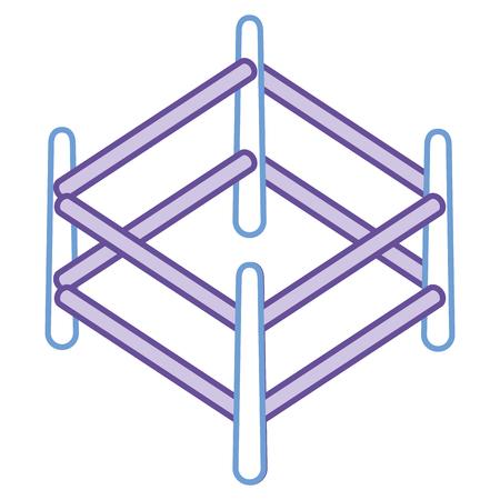 목조 목장 격리 아이콘 벡터 일러스트 디자인 스톡 콘텐츠 - 91451652
