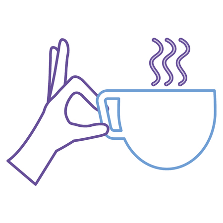 hand with coffee cup isolated icon vector illustration design Иллюстрация