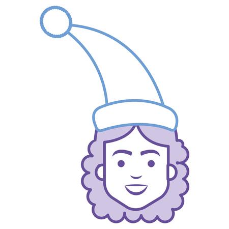 Donna con progettazione dell'illustrazione di vettore del cappello di sonno Archivio Fotografico - 91444195