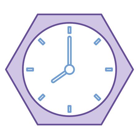 タイムクロック分離アイコンベクトルイラストデザイン  イラスト・ベクター素材