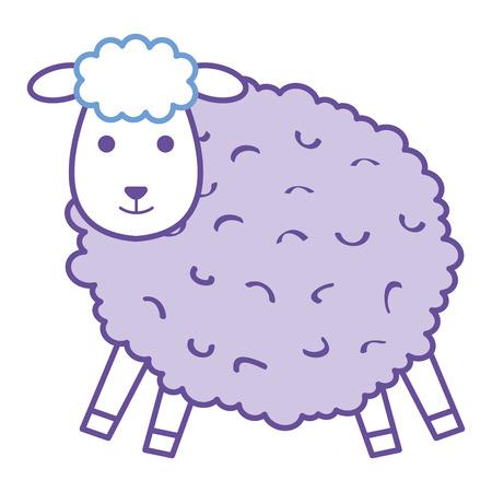 cute sheep character icon vector illustration design Stock Vector - 91444288