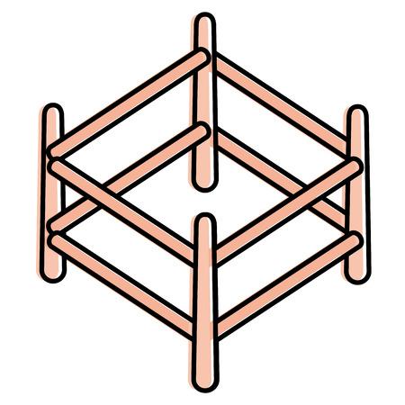 Corral en bois isolé icône design d'illustration vectorielle Banque d'images - 91444511