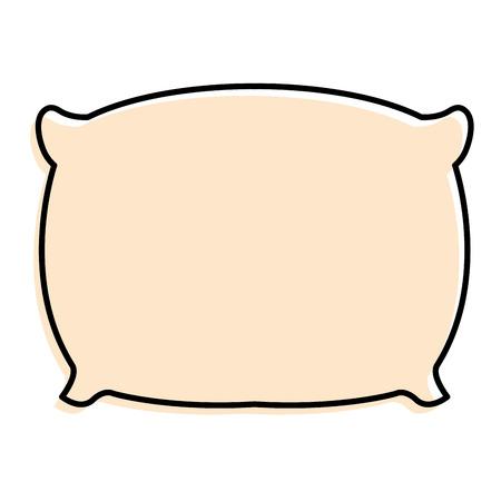 枕ベッド隔離アイコンベクトルイラストデザイン