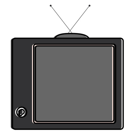 old tv isolated icon vector illustration design