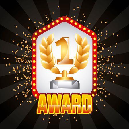 award winner number one vector illustration