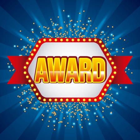 award banner ribbon vector illustration Reklamní fotografie - 91670517