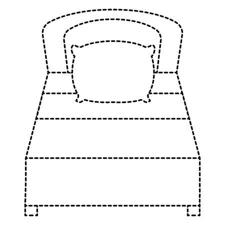 Icona letto isolato. Archivio Fotografico - 91448751