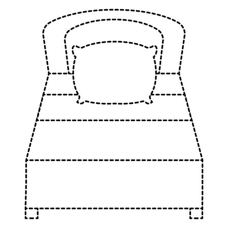 Bed isolated icon. Illustration