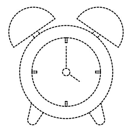 alarm time clock isolated icon vector illustration design Illusztráció