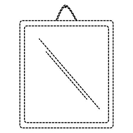 Miroir suspendu isolé icône design d'illustration vectorielle Banque d'images - 91451692