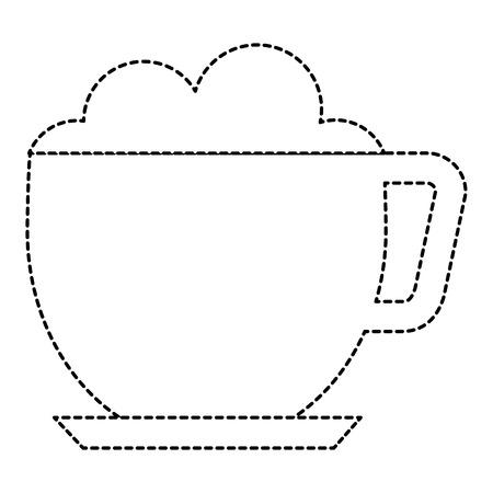 コーヒーカップ分離アイコンベクトルイラストデザイン