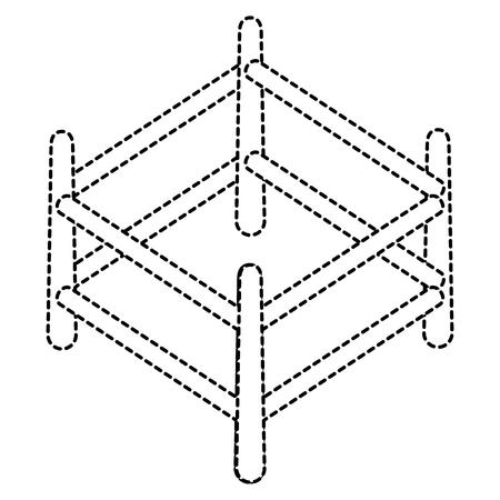 목조 목장 격리 아이콘 벡터 일러스트 디자인 스톡 콘텐츠 - 91450310