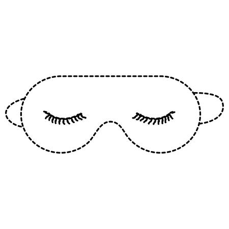 Schlafenmaske lokalisierte Ikonenvektor-Illustrationsdesign Standard-Bild - 91450514