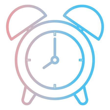 alarm time clock isolated icon vector illustration design 向量圖像