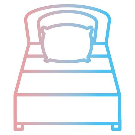 快適なベッド絶縁アイコンベクトルイラストデザイン