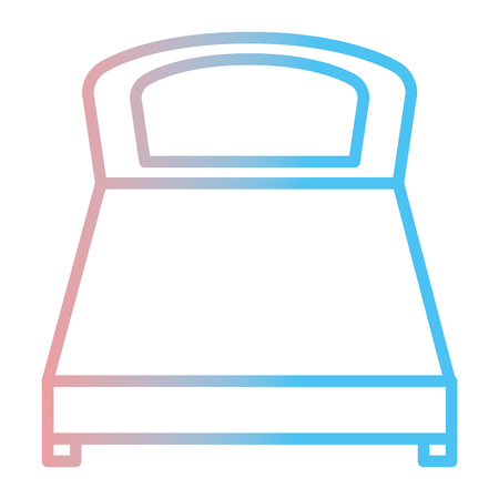 Comfortable bed isolated icon vector illustration design
