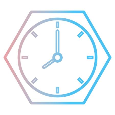 Time clock isolated icon vector illustration design 版權商用圖片 - 91446993