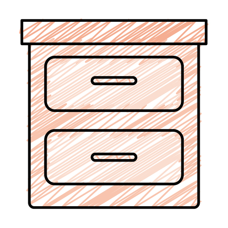 bedroom drawer isolated icon vector illustration design Stock Vector - 91450719