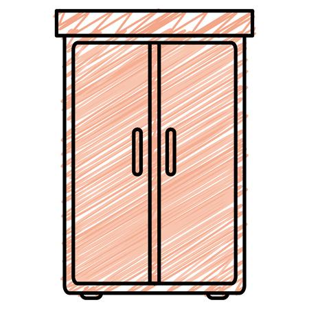 kast slaapkamer geïsoleerd pictogram vector illustratie ontwerp