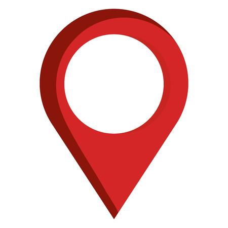 aanwijzer locatie pin geïsoleerd pictogram vector illustratie ontwerp