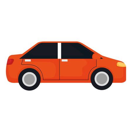 Car vehicle isolated icon illustration design.