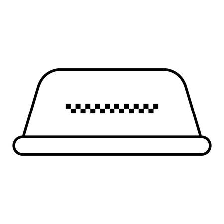 Luz de táxi isolado ícone vector ilustração design Foto de archivo - 91474523