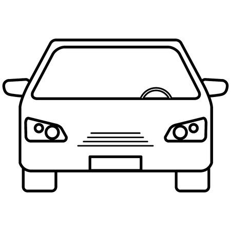 자동차, 차량, 격리 된 아이콘, 벡터 일러스트 레이 션 디자인