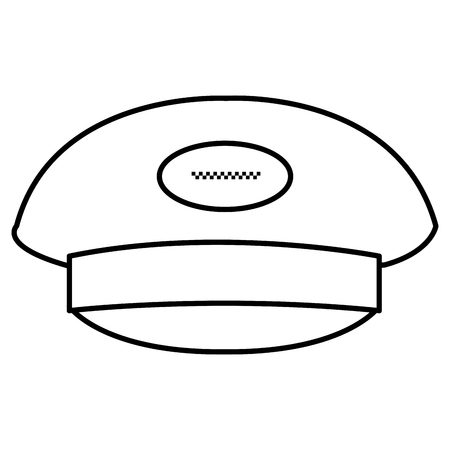 taxi driver cap icon vector illustration design
