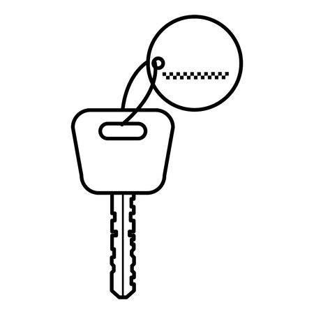 car key isolated icon vector illustration design