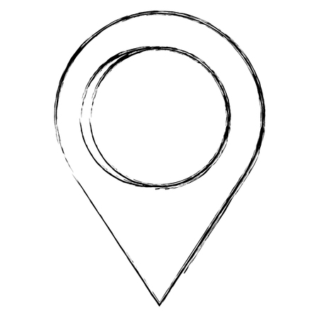 pointer location pin isolated icon vector illustration design