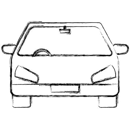 자동차 차량 격리 아이콘 벡터 일러스트 디자인 일러스트