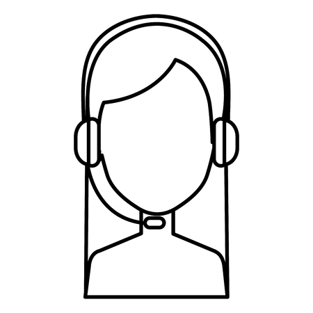 call center agent shirtless avatar character vector illustration design