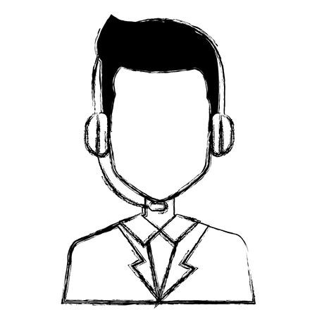 call center agent avatar character vector illustration design Illustration