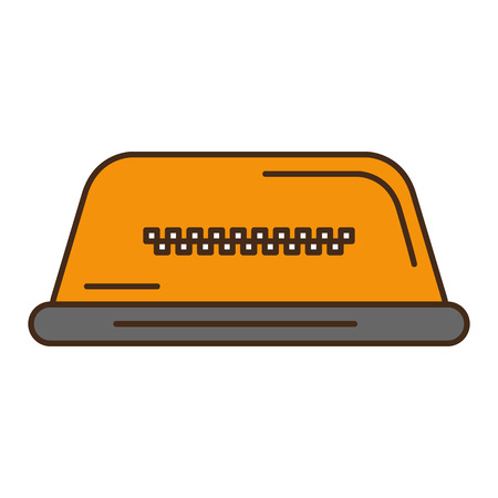taxi light isolated icon vector illustration design