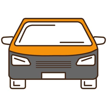 車載分離アイコンベクトルイラストデザイン