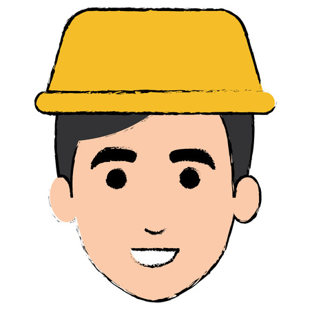 young man with taxi light avatar character vector illustration design Illustration