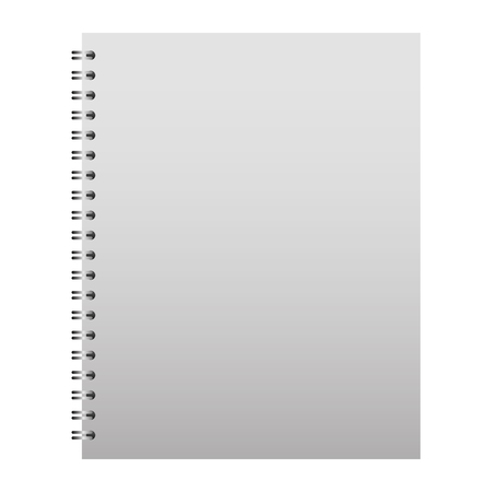 template stationery notebook office for business cover blank design vector illustration 向量圖像
