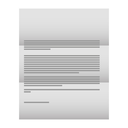 business corporate letter document template vector illustration