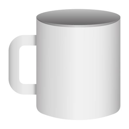 corporate ceramic mug mockup empty template for branding identity and company vector illustration
