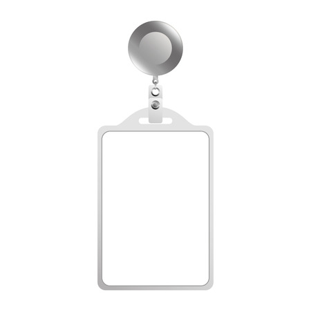 identification card corporate office empty template vector illustration