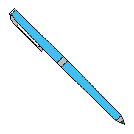 classic ballpoint pen write supply office object vector illustration