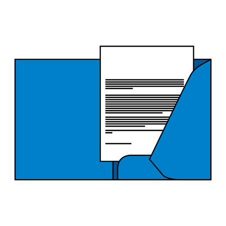 corporate business folder and document paper stationery template design vector illustration Banco de Imagens - 91480437