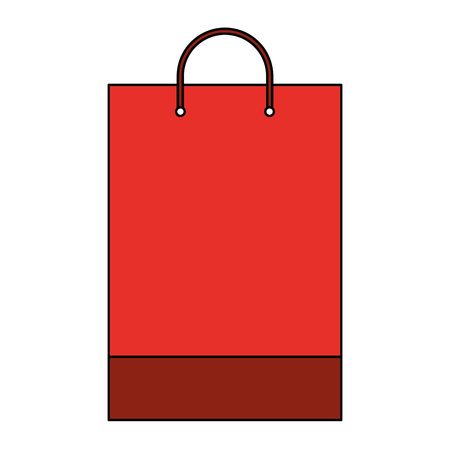 shopping bag template sample business stationery blank vector illustration